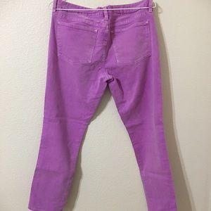 Purplish Pink J.Crew toothpick jeans